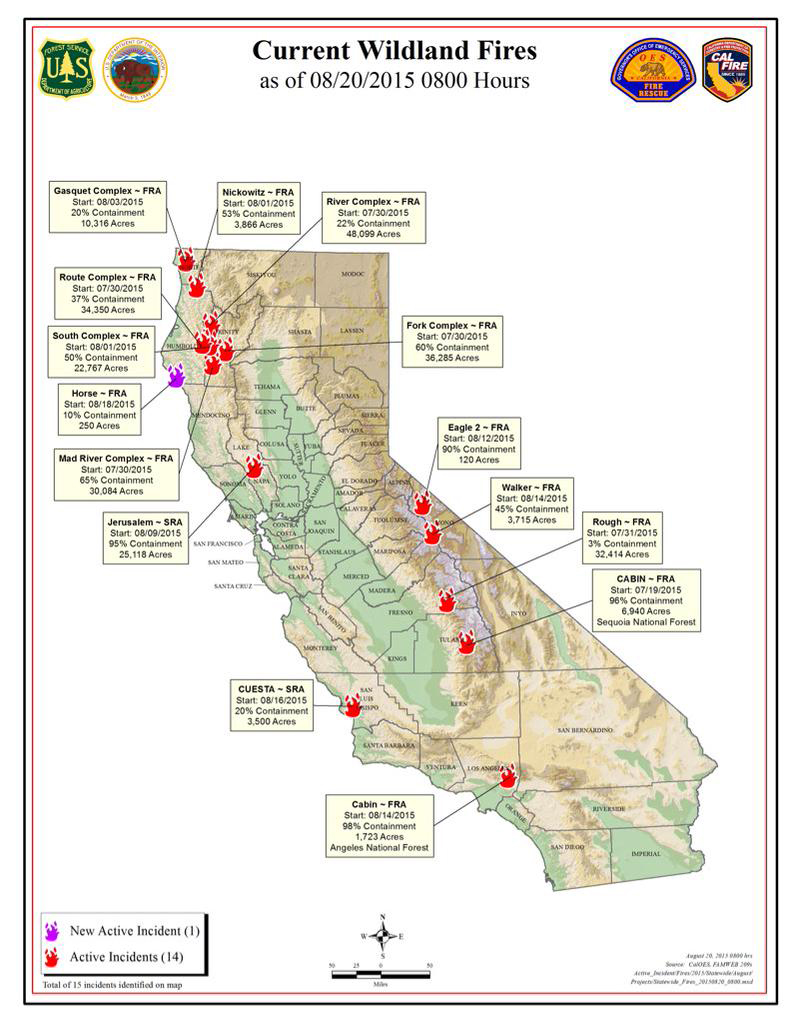CalFire Map of Current Wildland Fire Activity | A Blog for the ... on